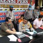 Kapolrestabes Medan Kombes Pol Riko Sunarko saat Konferensi Pers.