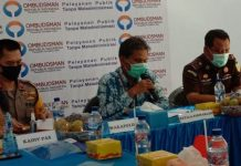 Kepala Ombudsman RI Sumut, Abyadi Siregar (tengah) memaparkan hasil asesment cepat pihaknya tentang kondisi tahanan. Turut hadir Wakapoldasu dan Aspidum Kejatisu.(finta/kaldera)