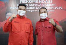 Bakal calon Walikota Medan 2020, Bobby Nasution dan bakal calon Wakil Walikota Medan, Aulia Rahman.