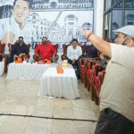 Tokoh Disabilitas Kota Medan, Ahmad Faury saat bincang-bincang tentang konsep kolaborasi Bobby Nasution.