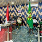 Rapat Koordinasi Khusus (Rakorsus) Tingkat Menteri di Command Center Balai Kota Medan, Kamis (13/8/2020).