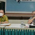 Kadis Kesehatan Kota Medan, Edwin Effendi saat menyampaikan tentang penyebaran Covid-19 yang semakin tinggi di Kota Medan.