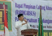 Bobby Afif Nasution saat menghadiri Rapat Pimpinan Cabang Khusus (Rapimcabsus) PPP Kota Medan di Hotel Madani.