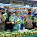 Direktorat Resnarkoba Polda Sumatera Utara (Sumut) memperlihatkan barang bukti sabu seberat 23 kilogram pada Jumat (19/6/2020) lalu.