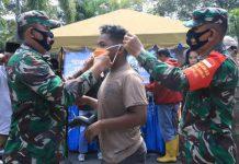 Razia Masker di Terminal Amplas Jalan Panglima Denai Kelurahan Timbang Deli Kecamatan Medan Amplas.