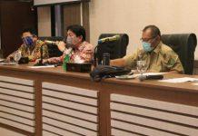 Rapat Koordinasi Penertiban PSU Perumahan di Balai Kota Medan, Selasa (25/8/2020).