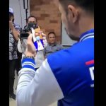 Ketua Umum DPP Partai Demokrat, Agus Harimurti Yudhoyono (AHY) videocall dengan Akhyar sebagian bentuk dukungan.