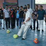 Turnamen Futsal dibuka Bupati Asahan, Surya di Desa Air Joman Baru, Kecamatan Air Joman, Minggu (30/8/2020).