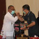 Plt Walikota Medan, Akhyar Nasution dalam rapat paripurna Penyampaian Nota Pengantar Kepala Daerah Kota Medan.