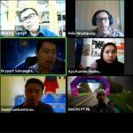 Tampilan layar peserta webinar KEK Sei Mangkei: Peluang dan Tantangan