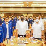 Acara konsolidasi dan silaturrahim Partai Amanat Nasional (PAN) yang di hadiri oleh Bobby Afif Nasution dan Aulia Rachman di Emerald Garden Medan, Selasa (15/9/2020) malam.