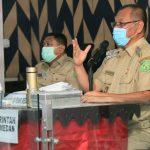 Plt Walikota Medan, Akhyar Nasution saat rapat kerja secara virtual dengan KPK