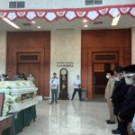 Penyemayaman jenazah Anggota DPRD Sumut, Gedung Paripurna DPRD Sumut, Jalan Imam Bonjol, Medan, Selasa (22/9/2020) pagi.