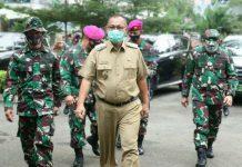 Plt Walikota Medan, Akhyar Nasution dan Dandim 0201/BS saat kegiatan TMMD.