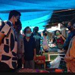 Calon Walikota Medan, Bobby Nasution saat mengunjungi Pasar Kampung Lalang, Jalan Kelambir V, Kota Medan.