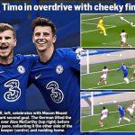 Kolase gol indah Timo Werner versus Southampton (dailymail)