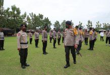 Pemberangkatan Satbrimob yang dipimpin Kapolda Sumut, Irjen Martuani Sormin di Mako Kompi 2 Yon A Tanjung Morawa, Rabu (7/10/2020).