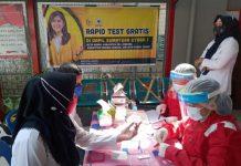 Rapid test gratis yang di gelar Meutya Hafid di Rutan Labuhan Deli, Deli Serdang, Rabu (14/10/2020).