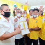 Musyawarah Kecamatan (Muscam) Golkar Medan Helvetia di Wisma PHI Jl Gatot Subroto Medan.