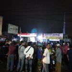 Suasana kegiatan Akhyar Nasution di Medan Deli yang tidak dilaporkan ke Bawaslu serta dinilai melanggar protokol kesehatan (prokes).