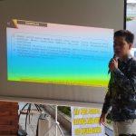 Direktur Riset InPAS, Alwi Dahlan Ritonga saat menjelaskan elektabilitas Pilkada Asahan.