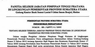 Pemprovsu Buka Seleksi 19 Jabatan Tinggi, Kadispora dan Kadis Bina Marga pun Dilelang