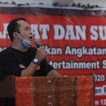 Calon Walikota Medan, Aulia Rachman menghadiri acara pelantikan Angkatan Muda Siraja Oloan Sumut dan Entertainment Siraja Oloan Sumut.