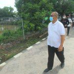 Calon Walikota Medan nomor urut 1, Akhyar Nasution saat meninjau Benteng Sungai Deli.