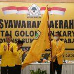 Hasil Musyawarah Daerah (Musda) X DPD Golkar Sumatera Utara (Sumut) tetapkan Musa Rajekshah sebagai Ketua DPD Golkar Sumut.