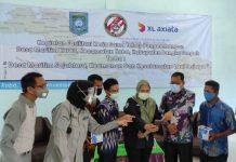 PT XL Axiata Tbk (XL Axiata) dan Badan Keamanan Laut Republik Indonesia (Bakamla) saat foto bersama.