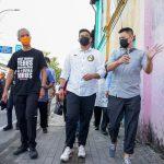 Kader PDI Perjuangan, Ganjar Pranowo dan Bobby Nasution saat kunjungi spot di Kota Medan.