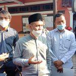 Calon Wakil Walikota Medan nomor urut 1, Salman Alfarisi saat memberikan klarifikasi kepada wartawan.