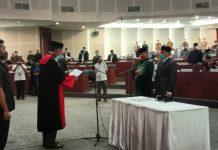 Pelantikan dan pengambilan sumpah Misno Adisyah Putra sebagai Wakil Ketua DPRD Sumut.