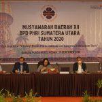 Dewi Juita Purba (tengah) ditunjuk BPP PHRI menjadi ketua sementara PHRI Sumut melalui surat mandat yang dikirimkan sampai terpilihnya ketua baru.