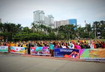 Kadispar Kota Medan dan masyarakat pariwisata Kota Medan deklarasi kesiapan pariwisata di 2021 meski dalam situasi pandemi, di Lapangan Merdeka Medan, Senin (4/1/2021)