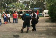 Karyawan PT SMGP mengungsi