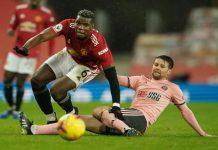 Manchester United gagal mengkudeta puncak klasmen EPL sementara dari saudara sekotanya Manchester City setelah dipermalukan tamunya Sheffield United 1-2 di Old Trafford