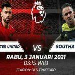 PertandinganManchester Unitedvs Southampton pada matchday 22Liga Inggrisdi Old Trafford