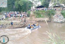 Aldi, 20, warga Kelurahan Sei Mati, Medan Maimun yang melompat ke sungai
