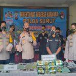 Direktorat Reserse Narkoba Polda Sumut bersama Badan Narkotika Nasional (BNN) menyita sejumlah aset dalam kasus tindak pidana pencucian uang (TPPU) dari hasil kejahatan narkoba