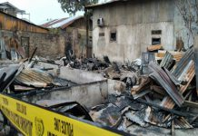 Dua unit rumah satu tembok di Jalan Jati III, Gang Kembar, Lingkungan XI, Kelurahan Teladan Timur, Kecamatan Medan Kota ludes terbakar. Satu penghuninya dilaporkan tewas.