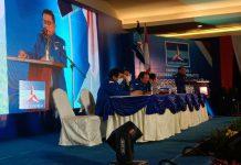 Ketua Umum terpilih Partai Demokrat, Moeldoko yang ditetapkan melalui Kongres Luar Biasa (KLB) yang digelar di Hotel The Hill Sibolangit Kabupaten Deliserdang memberikan pidato pertamanya usai terpilih.