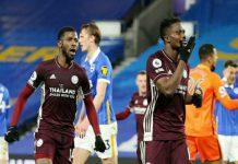 Leicester City berhasil menggeser Manchester United dari posisi dua klasemen Liga Inggris setelah mengamankan kemenangan 1-2 di markas Brighton & Hove Albion, Minggu (7/3/2021) dini hari WIB.