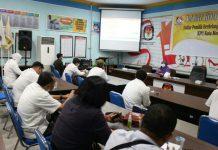 KPU Medan rapat koordinasi bersama perwakilan partai politik terkait Daftar Pemilih Berkelanjutan (DPB) di Aula Kantor KPU Medan, Jalan Kejaksaan No 37, kemarin.