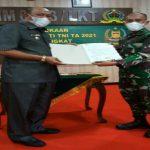 Kodim 0203/Langkat melaksanakan pembukaan Karya Bakti TNI TA 2021 di Ruang Data Makodim 0203/Langkat, Kota Binjai, Rabu (10/3/2021).
