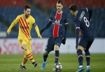 Paris Saint-GermainmendepakBarcelonadi babak 16 besarLiga Champions. PSG lolos ke perempatfinal meski hanya bermain imbang 1-1 dengan Barcelona di leg II.