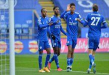 Leicester City menang telak 5-0 saat menjamu Sheffield United di King Power Stadium pada pekan ke-28 Premier League 2020/2021, Minggu (14/3/2021) malam WIB.