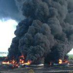 Kebakaran kilang minyak PertaminaRU VI Balongan, Indramayu, Jawa Barat, sejak Senin (29/3/2021)