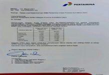 PT Pertamina menaikkan harga jual bahan bakar minyak (BBM) non subsidi di wilayah Sumatera Utara (Sumut).