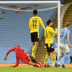 Pertandingan perempatfinal Liga Champions 2020/21 antara Manchester City vs Dortmund berakhir dengan skor 2-1.